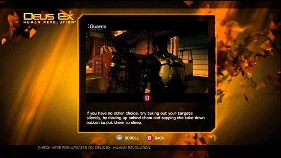Deus Ex: Human Revolution, Square-Enix / Eidos, game tutorial
