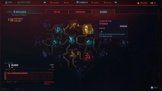 Feedback in games, skill tree cyberpunk